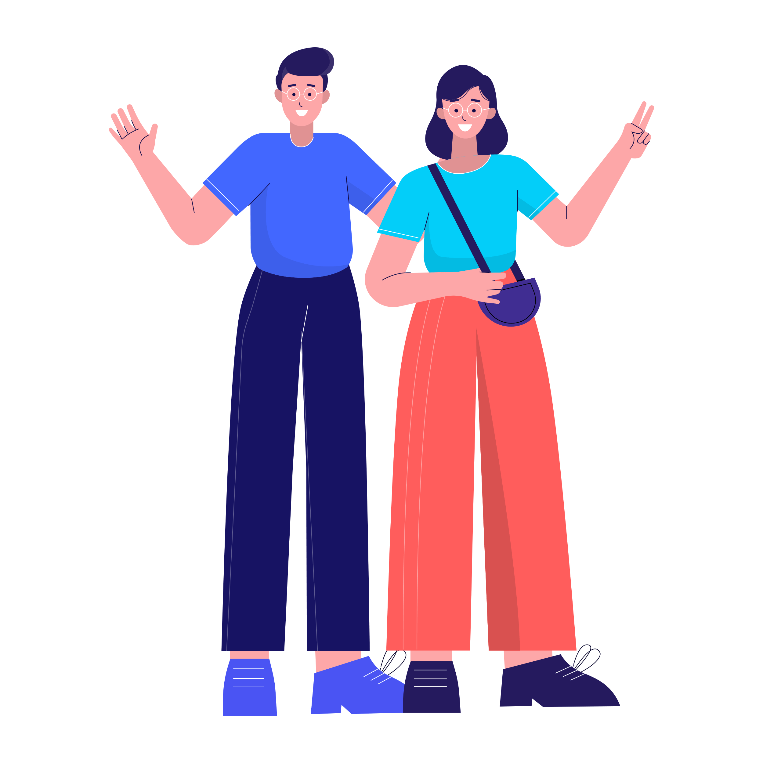 Illustration of a man and a woman